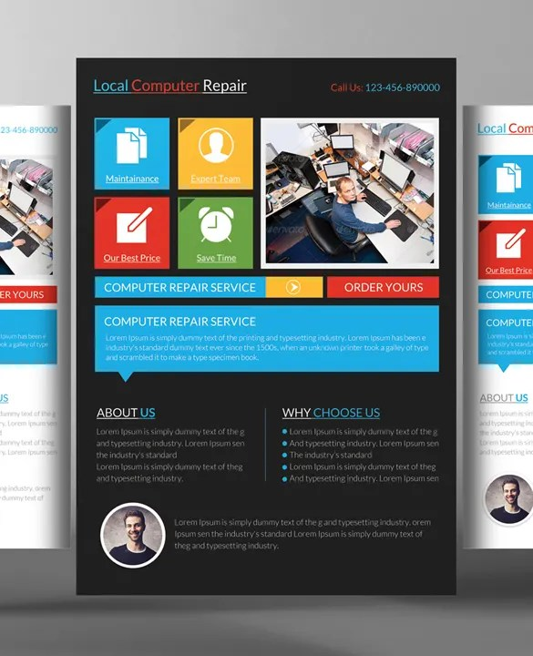 Computer Repair Flyer Templates \u2013 24+ Free PSD, AI Format Download - advertising flyers templates free