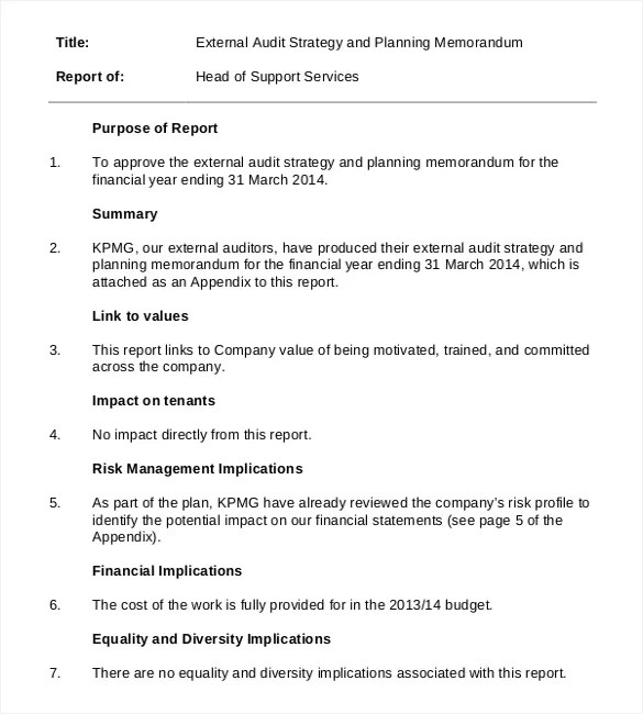 19+ Audit Memo Templates \u2013 Sample Word, Google Docs Format Download