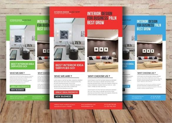 Interior Design Flyer Template - 29+ Free PSD, AI, Vector EPS Format - interior design brochure template
