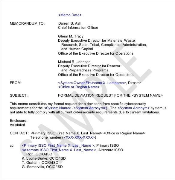 15+ Formal Memorandum Templates \u2013 Sample Word, Google Docs Format