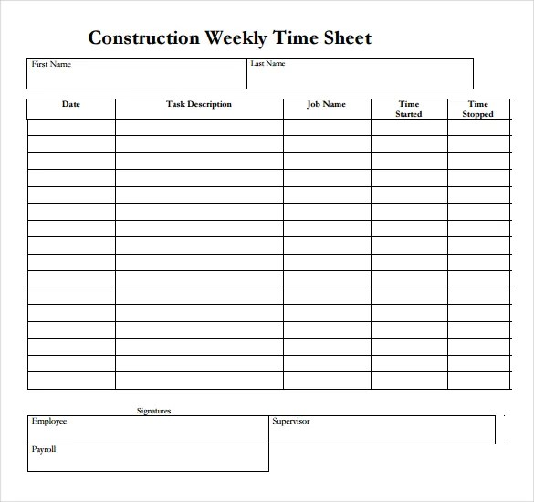 22+ Weekly Timesheet Templates \u2013 Free Sample, Example Format