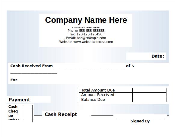 cash receipt in microsoft word - shefftunes