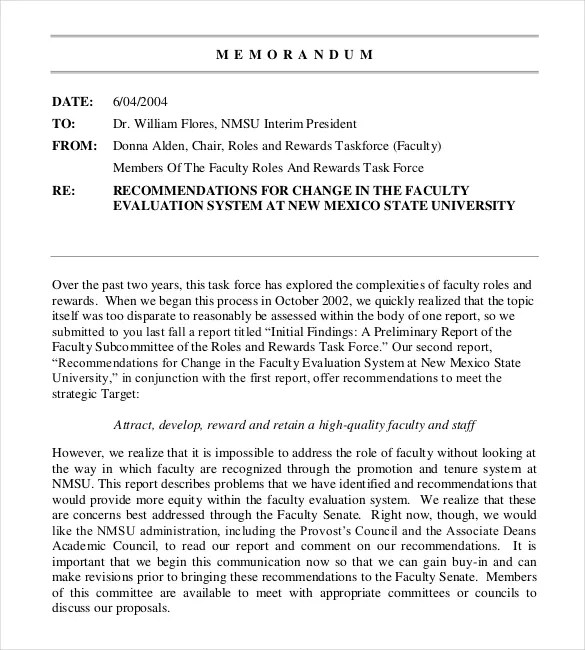 Interoffice Memo Template - 29+ Sample Word, Google Docs Format