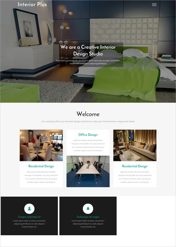 Interior Design Website Templates  Themes Free  Premium Free - interior design web template