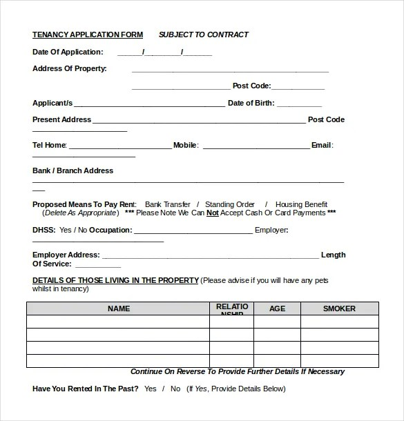 rental application form word document - Ozilalmanoof