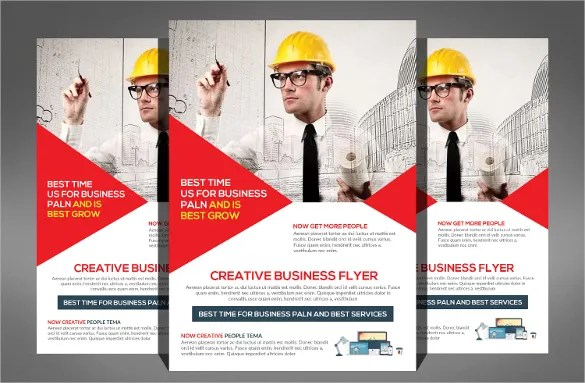 Construction Company Flyer - 25+ Free PSD, AI, Vector EPS Format - advertising flyer template