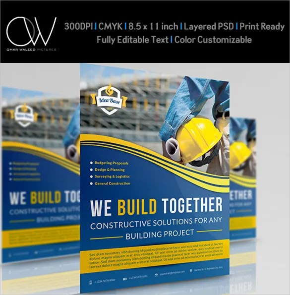 30+ Construction Company Flyer Templates - PSD, Ai, InDesign Free