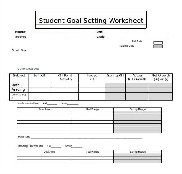 20+ Worksheet Templates Free Download MS Word 2010 Format Free