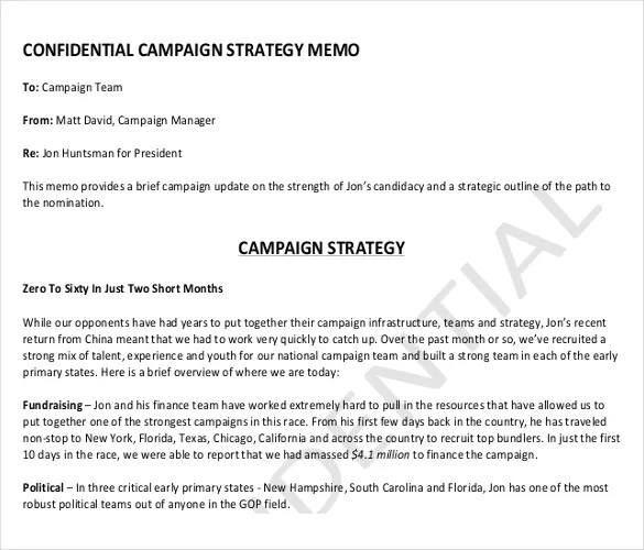 12+ Strategy Memo Templates \u2013 Free Sample, Example, Format Download