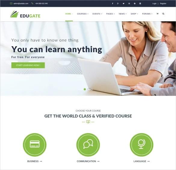 19+ Top Online Education WordPress Themes  Templates Free