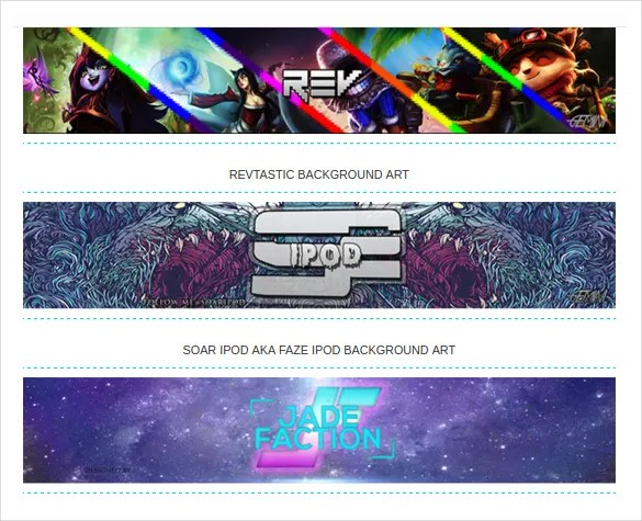 25+ YouTube Channel Art Templates \u2013 Free Sample, Example, Format