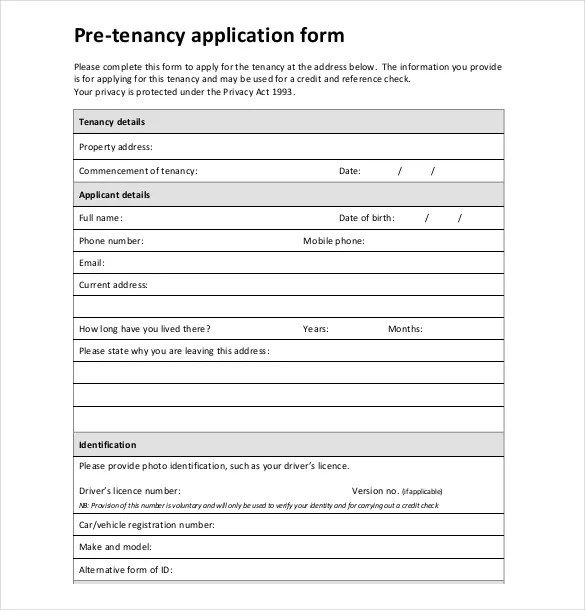 Application Form Templates \u2013 10+ Free Word, PDF Documents Download - employment application word template