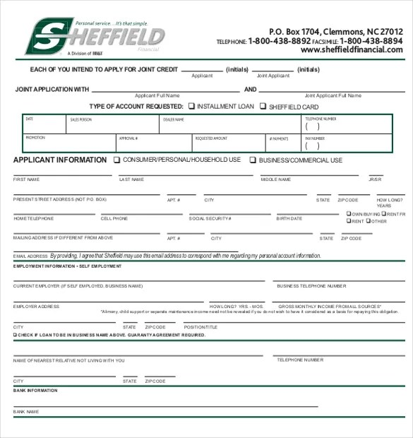Rental Application 18 Free Word Pdf Documents Download Credit Application Template – 13 Free Word Pdf Documents