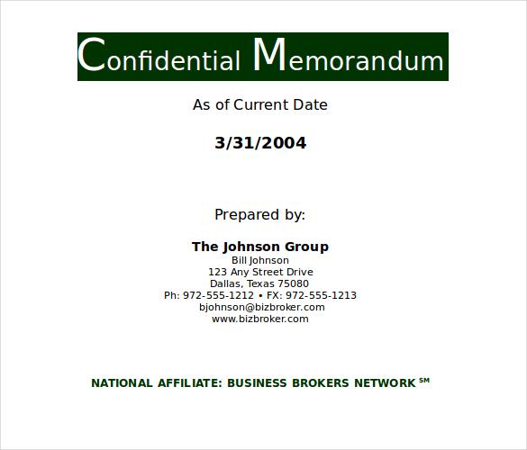 8+ Confidential Memo Templates u2013 Free Sample, Example