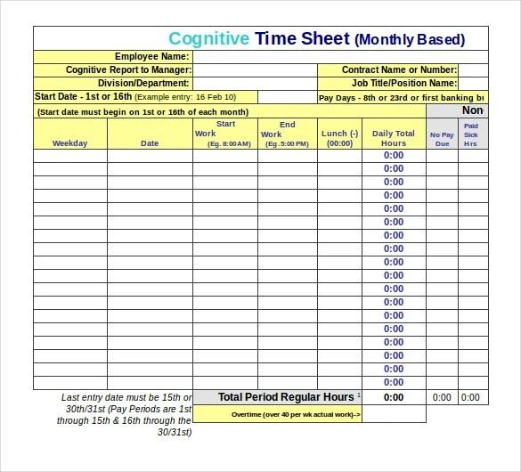 22+ Employee Timesheet Templates \u2013 Free Sample, Example Format