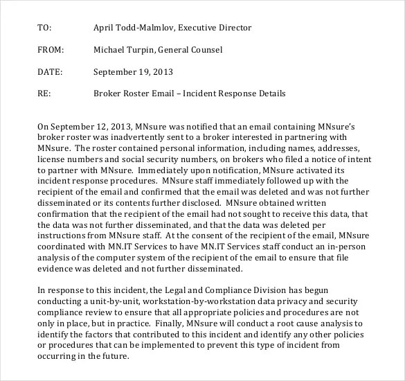 incident report memo sample - Towerssconstruction