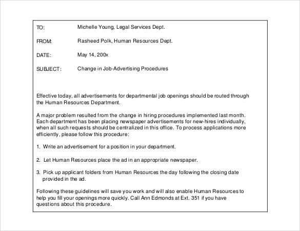 14+ Email Memo Templates \u2013 Free Sample, Example, Format Download