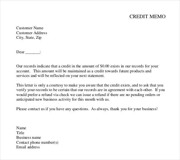 15+ Free Memo Templates u2013 Free Sample, Example, Format Download - credit memo template