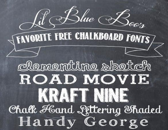 Chalkboard Fonts \u2013 25+ Free TTF, OTF Format Download Free
