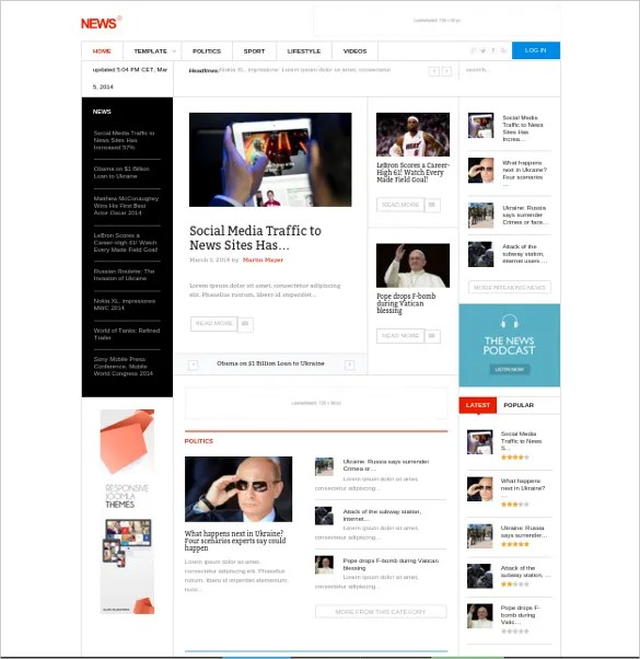 28+ News Websites Joomla Themes  Templates Free  Premium Templates - podcast website template