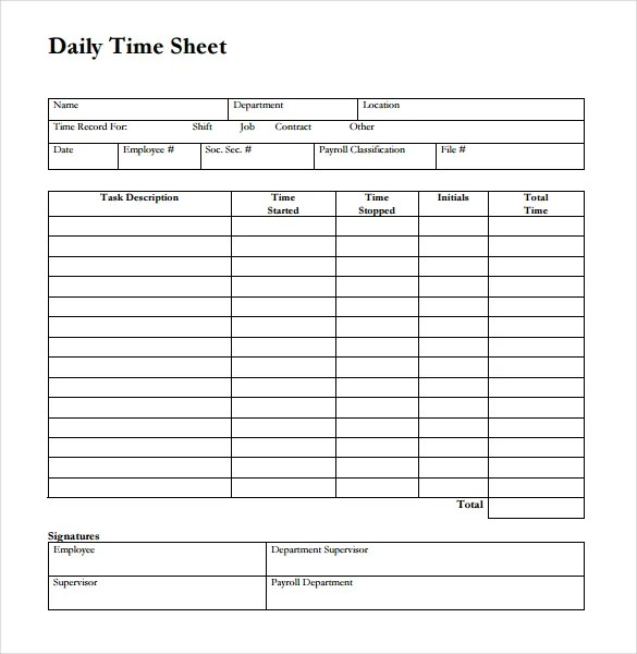 hourly time card template - Onwebioinnovate