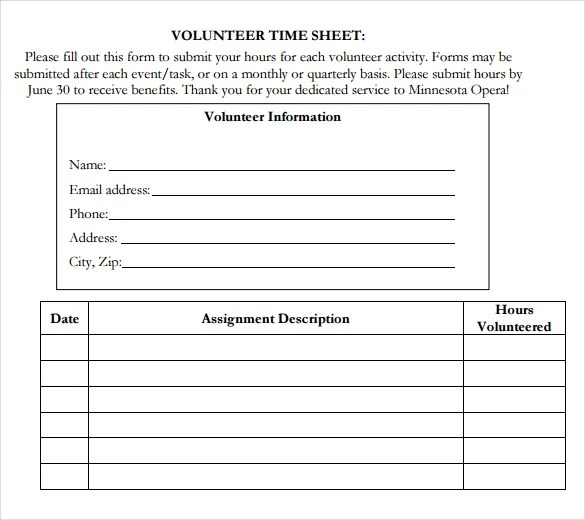 18+ Volunteer Timesheet Templates \u2013 Free Sample, Example Format