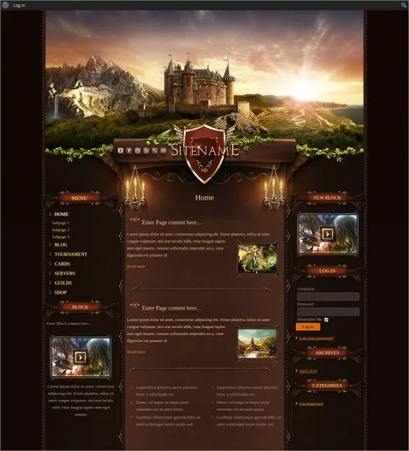 48+ Gaming Website Themes  Templates Free  Premium Templates - video game template