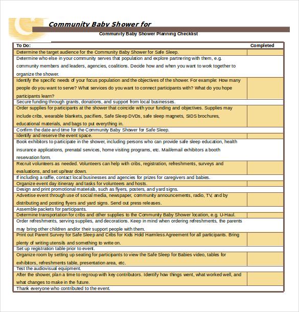 10+ Free Download Baby Registry Checklist Templates in Microsoft - microsoft word checklist template download free