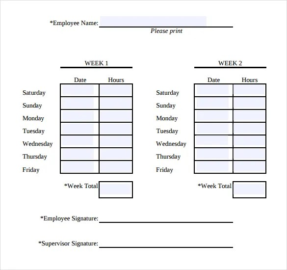 Sample Biweekly Timesheet Calculator Biweekly Timesheet Calculator - biweekly time sheet calculator
