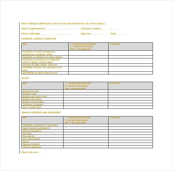 Daily Checklist Template - 26+ Free Word, Excel, PDF Documents - daily checklist template word