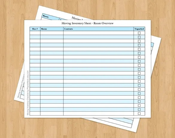 Apartment Moving Checklist Pdf  Sample New Apartment Checklist - moving checklist template