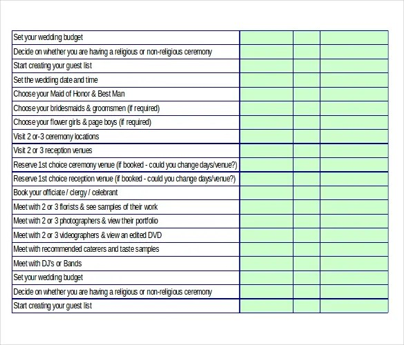 Wedding Checklist Template Wedding Timeline Checklist Template - wedding checklist template