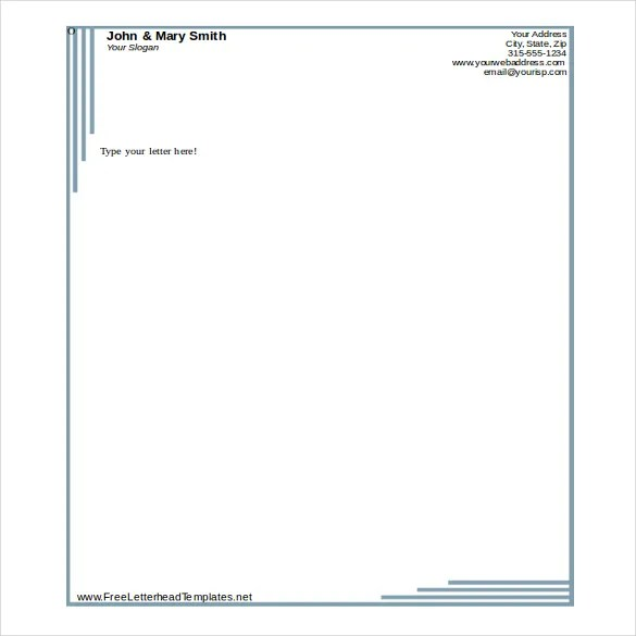35+ Free Download Letterhead Templates in Microsoft Word Free - microsoft word letterhead template free