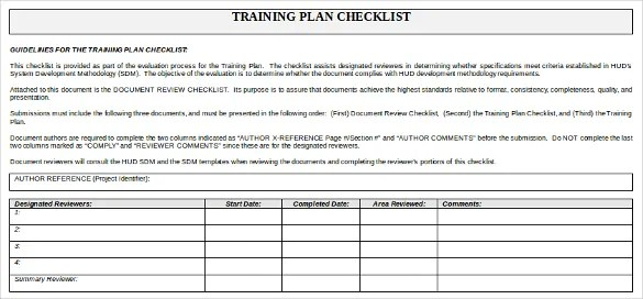 High Quality ... Training Checklist Template   14+ Free Word, Excel, PDF Documents   Checklist  Sample ...