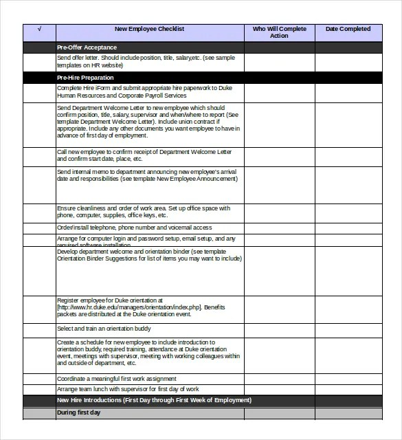 Onboarding Checklist Template \u2013 15+ Free Word, Excel, PDF Documents