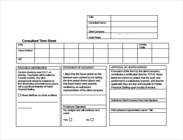 20+ Consultant Timesheet Templates \u2013 Free Sample, Example Format