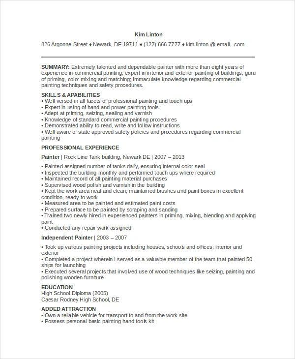 resume sentence builder