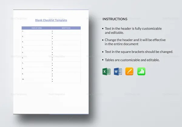 35+ Checklist Templates - Free Sample, Example, Format Free