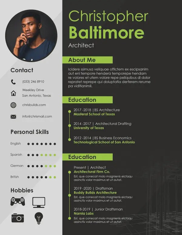 Architect Resume Template - 5+ Free Word, PDF Documents Download
