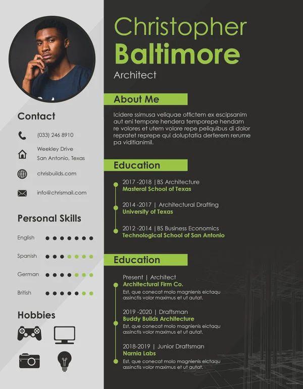 architecture resume and portfolio