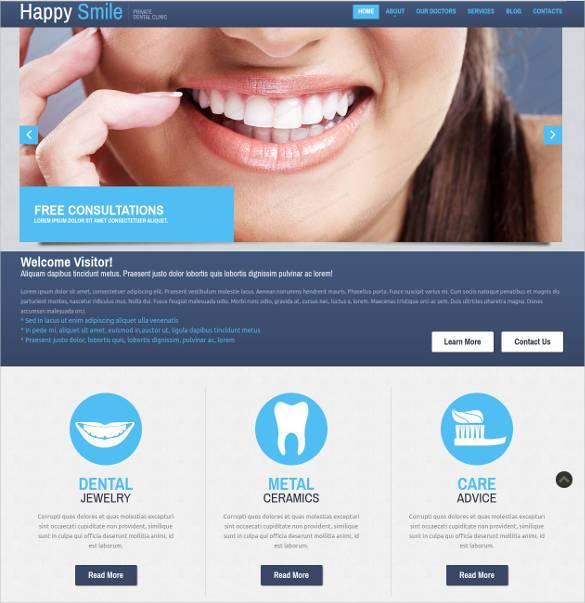 36+ Dental Website Themes  Templates Free  Premium Templates