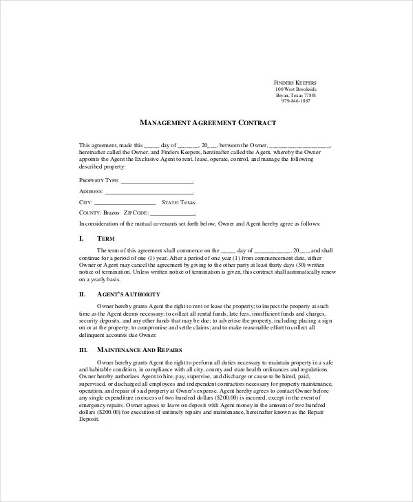 13+ Contract Templates - Free Sample, example format Free