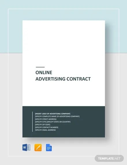 11+ Advertising Contract Templates - Word, Google Docs Free