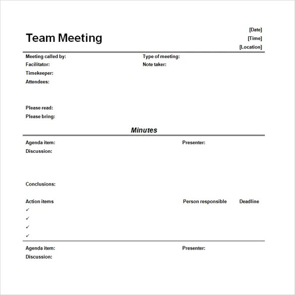 16+ Microsoft Word Minute Templates Free Download Free  Premium - minutes of meeting template free download