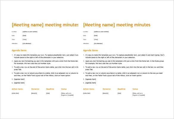 16+ Microsoft Word Minute Templates Free Download Free  Premium - meeting minutes template word