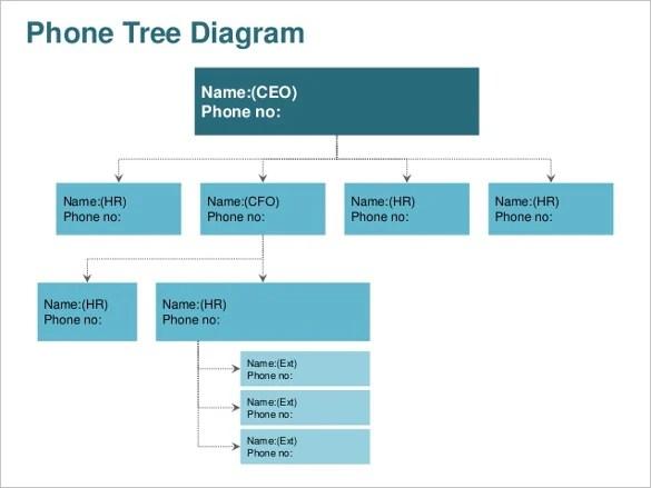 Printable Phone Tree Template \u2013 15+ Free Word, Excel, PDF Format