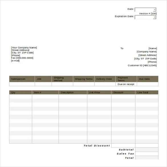 Sample Software Quotation Invoicing Software Example Invoice - sample invoice quotation
