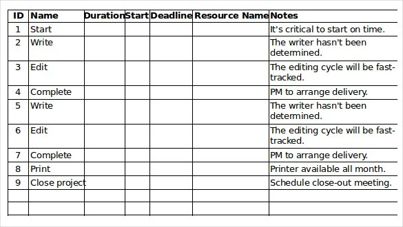 Task Checklist Template \u2013 8+ Free Word, Excel, PDF Documents