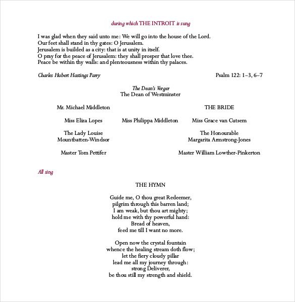 wedding programme template - Josemulinohouse - wedding programs word template