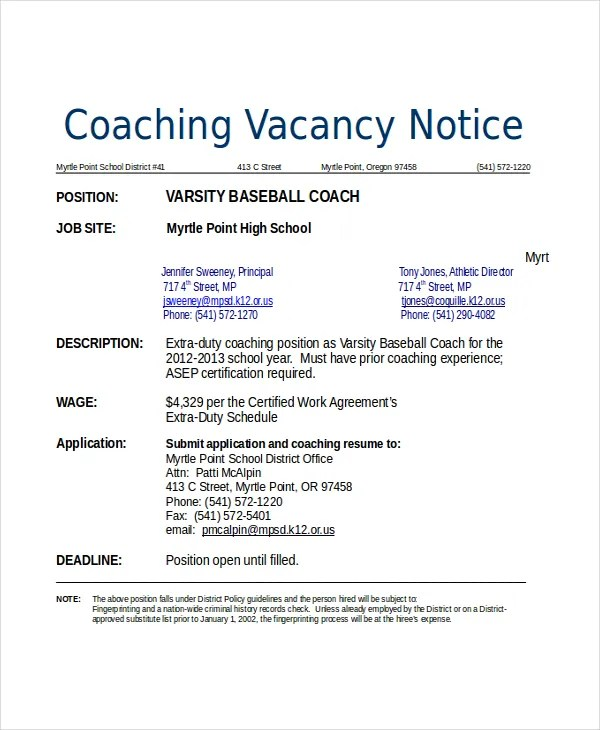10+ Coach Resume Templates - PDF, DOC Free  Premium Templates - baseball resume